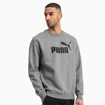 Essentials Herren Fleece Sweatshirt, Medium Gray Heather, small