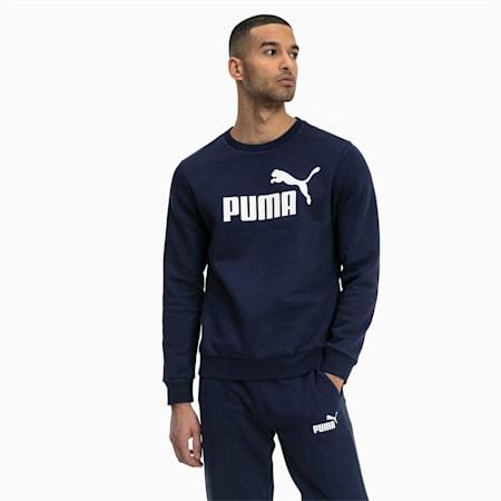 Essentials Herren Fleece Sweatshirt, Peacoat, small