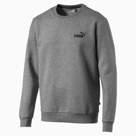 Essentials Fleece Crew Neck Men's Sweater, Medium Gray Heather, small-IND