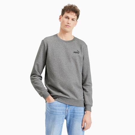Sudadera de cuello redondo Essentials de forro polar para hombre, Medium Gray Heather, small