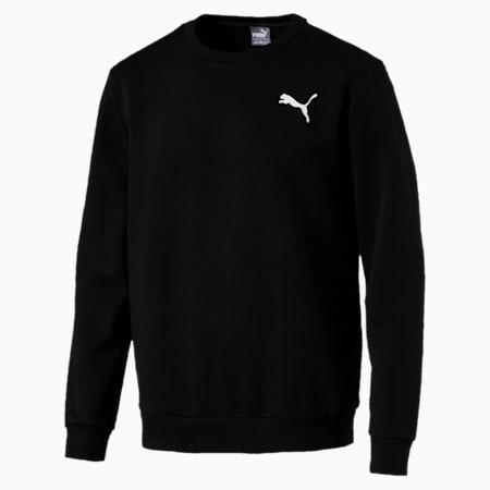 Essentials Fleece Crew Neck Men's Sweater, Puma Black-Cat, small-IND
