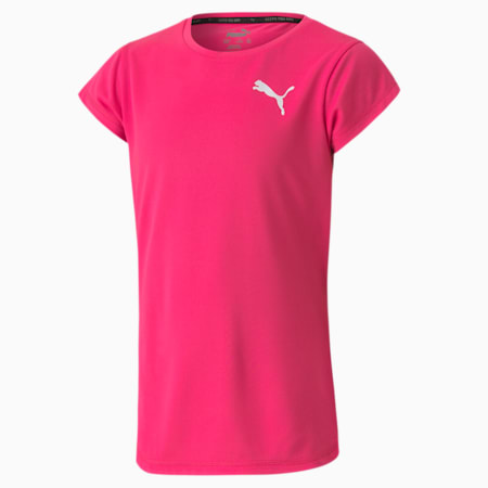 Active Girls' Tee, Glowing Pink, small-GBR