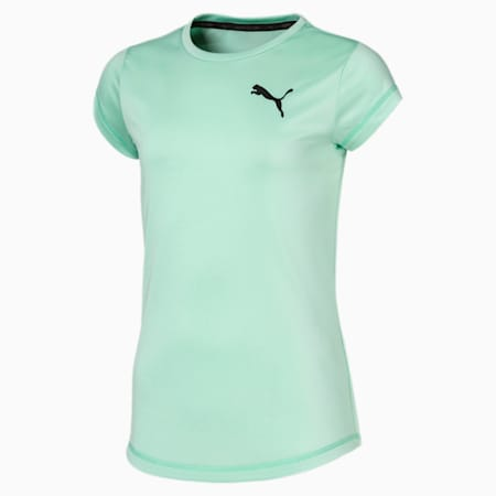 Active Girls' Tee, Mist Green, small