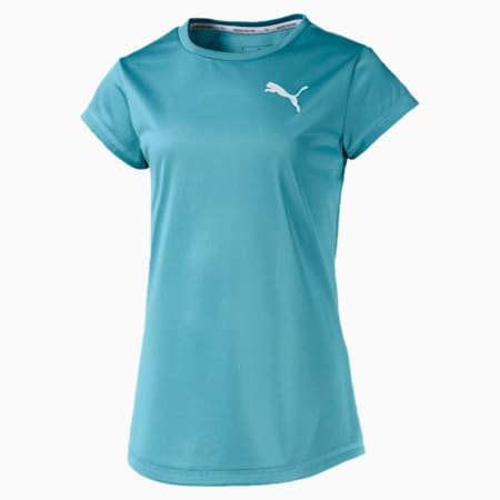 Active dryCELL Girls' T-Shirt, Milky Blue, small-IND