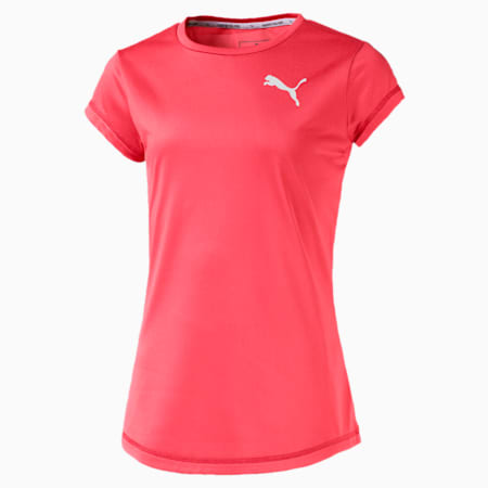 Active dryCELL Girls' T-Shirt, Calypso Coral, small-IND