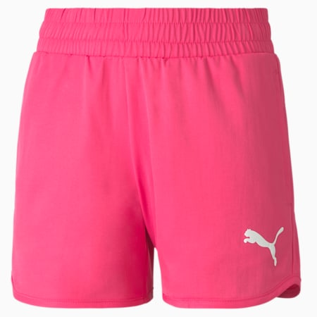 Active Girls' Shorts, Glowing Pink, small-SEA