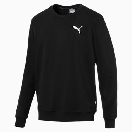 Essentials Men's Crew Sweatshirt, Puma Black-Cat, small-IND