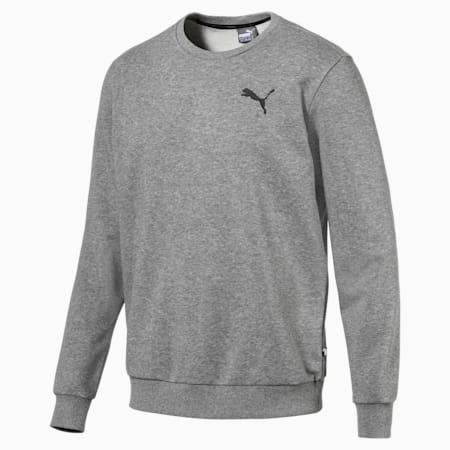 Essentials Men's Crew Sweatshirt, Medium Gray Heather-CAT, small-IND