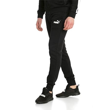 Essentials Men's Fleece Knit Pants, Puma Black, small