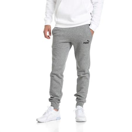 Essentials Knitted Fleece Men's Sweatpants, Medium Gray Heather, small