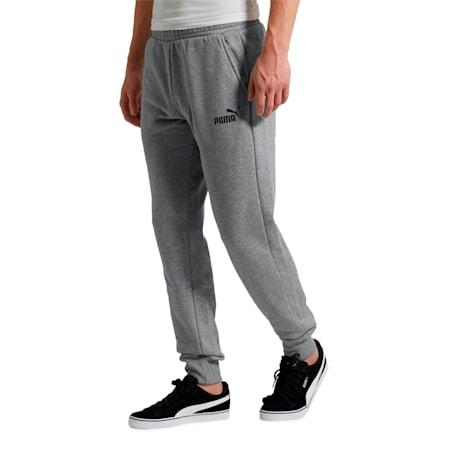 Essentials Men's Fleece Knit Pants, Medium Gray Heather, small