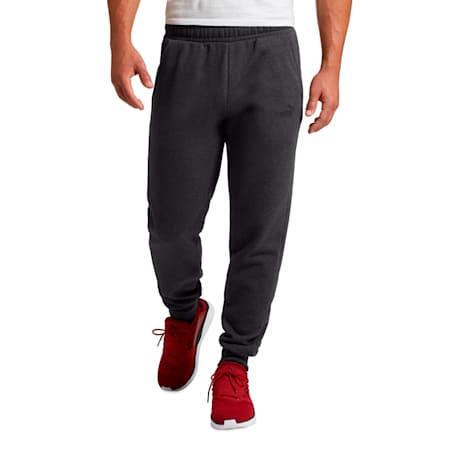 Pantalones de polar Essentials para hombre, Dark Gray Heather, pequeño