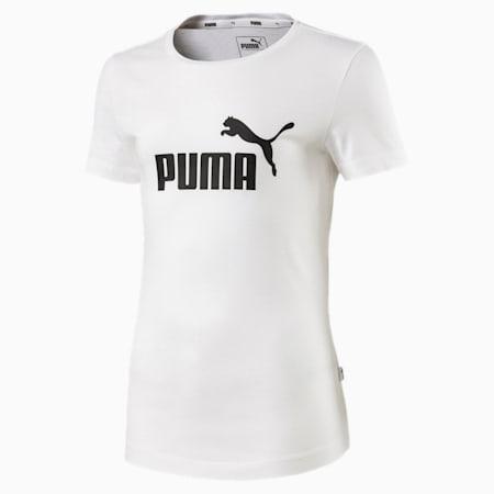 Essentials Girls' Tee, Puma White, small-GBR