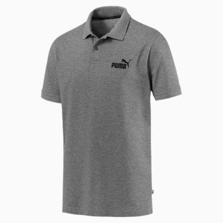 Essential Short Sleeve Men's Polo Shirt, Medium Gray Heather, small-SEA