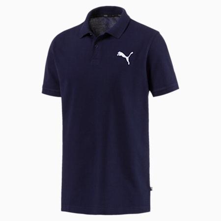 Essential Short Sleeve Men's Polo Shirt, Peacoat-_Cat, small-SEA