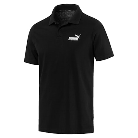 Essentials Men's Jersey Polo, Cotton Black, small-IND