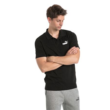 Essentials Men's Jersey Polo, Cotton Black, small