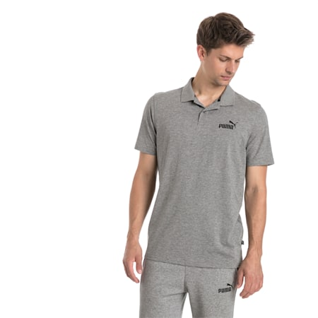 Essentials Herren Jersey Polo, Medium Gray Heather, small
