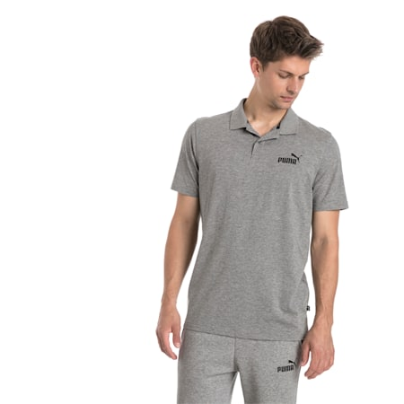 Essentials Men's Jersey Polo, Medium Gray Heather, small-IND