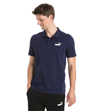 Essentials Men's Jersey Polo, Peacoat, small