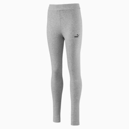 Essentials Girls' Leggings, Light Gray Heather, small