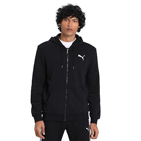 Essentials Hooded Jacket, Puma Black-Cat, small-IND