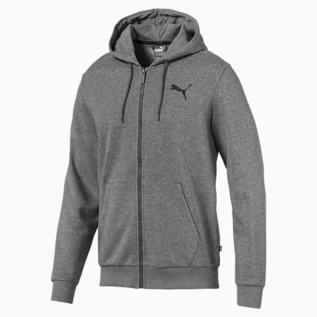 에센셜 풀집 테리 후드 티/Essentials Hooded Jacket, Medium Gray Heather-Cat, small-KOR