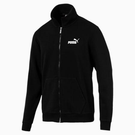 Essentials Men's Sweat Jacket, Puma Black, small-SEA