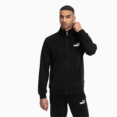 Essentials Men's Sweat Jacket, Puma Black, small