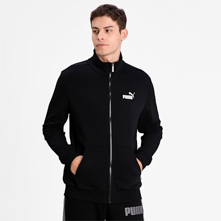 Essentials Men's Track Jacket, Puma Black, small-IND