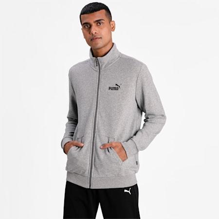 Essentials Men's Track Jacket, Medium Gray Heather, small-IND