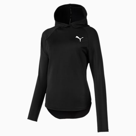 Women's Active Hoodie, Puma Black, small