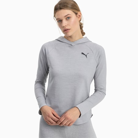 Women's Active Hoodie, Light Gray Heather, small