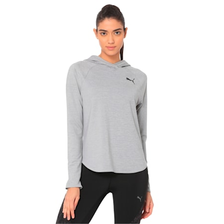 Women's dryCELL Active Hoodie, Light Gray Heather, small-IND