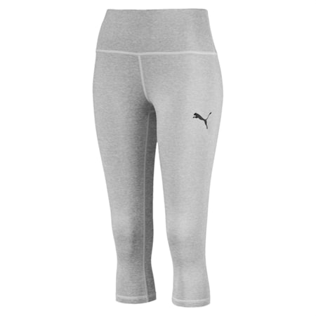 Active 3/4 dryCELL Women's Leggings, Light Gray Heather, small-IND