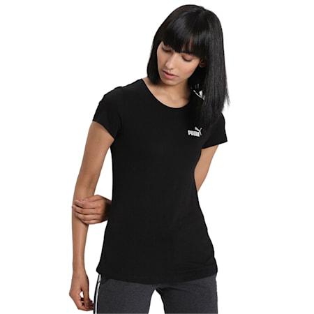 Essentials Women's Crewneck T-Shirt, Cotton Black, small-IND