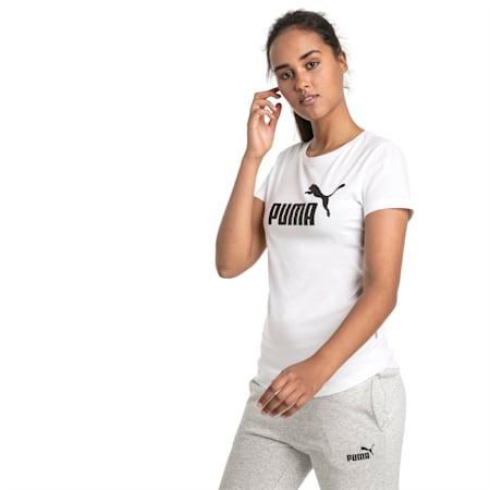 Essentials Damen T-Shirt, Puma White, small