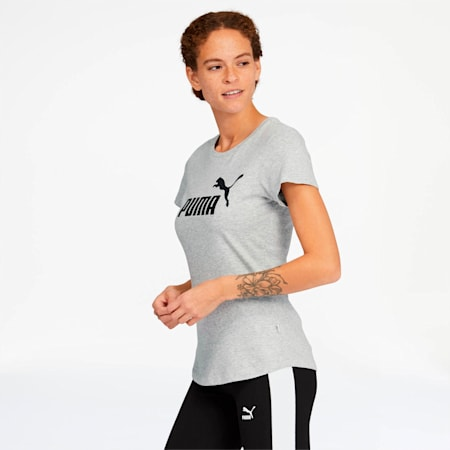 Essentials Women's Tee, Light Gray Heather, small