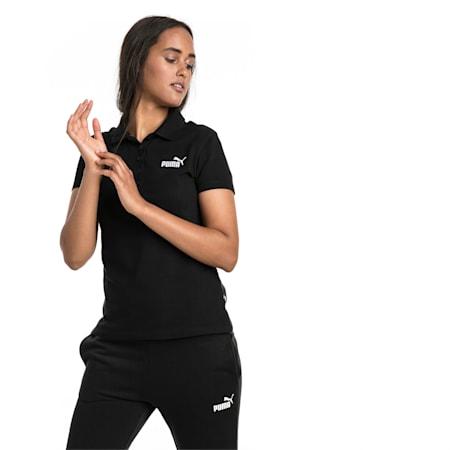Essentials Women's Polo, Cotton Black, small-SEA