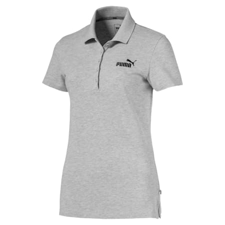 Essentials Damen Polo, Light Gray Heather, small