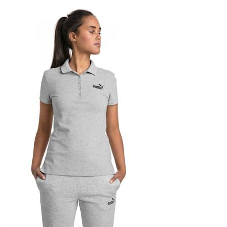 Essentials Women's Polo, Light Gray Heather, small-SEA