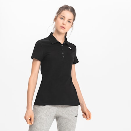 Essentials Women's Polo, Cotton Black-Cat, small