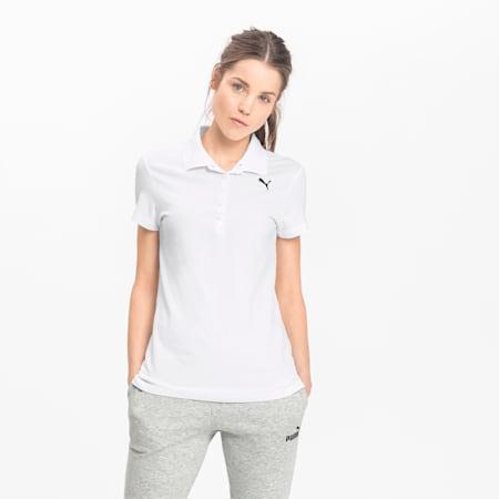 Essentials Women's Polo, Puma White-Cat, small