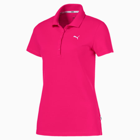 Essentials Women's Polo, Beetroot Purple-Cat, small-SEA