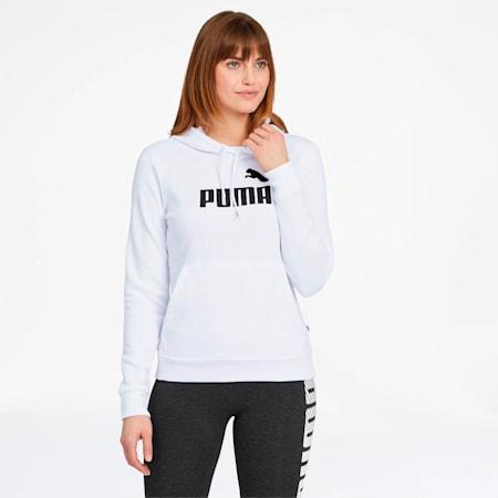 Essentials Women's Hoodie, Puma White, small