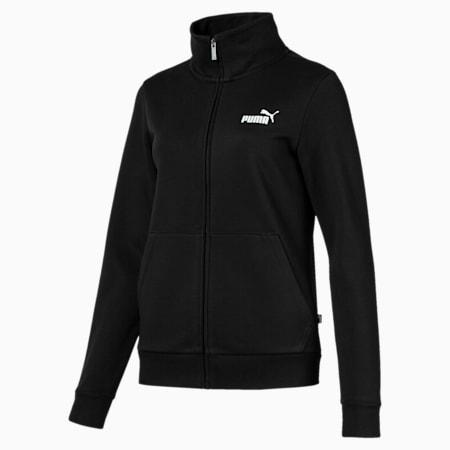 Essentials Fleece Women's Track Jacket, Cotton Black, small-IND