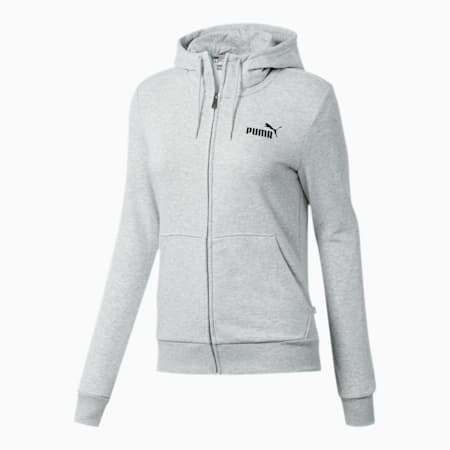 Essentials Women's Hooded Jacket, Light Gray Heather, small