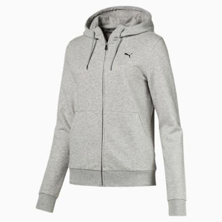 Essentials Hooded Women's Jacket, Light Gray Heather-Cat, small-SEA