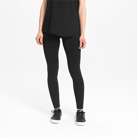 Essentials Women's Leggings, Cotton Black-Cat, small