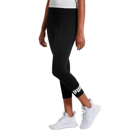 Essentials 3/4 Leggings, Cotton Black, small
